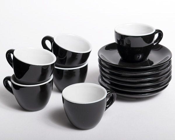 6 tazas de porcelana para café