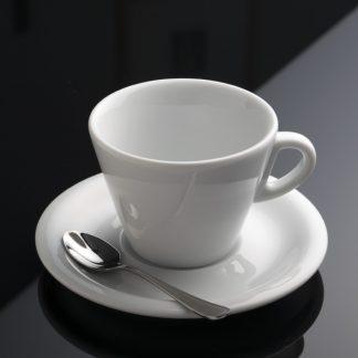 taza de café capuccino de porcelana