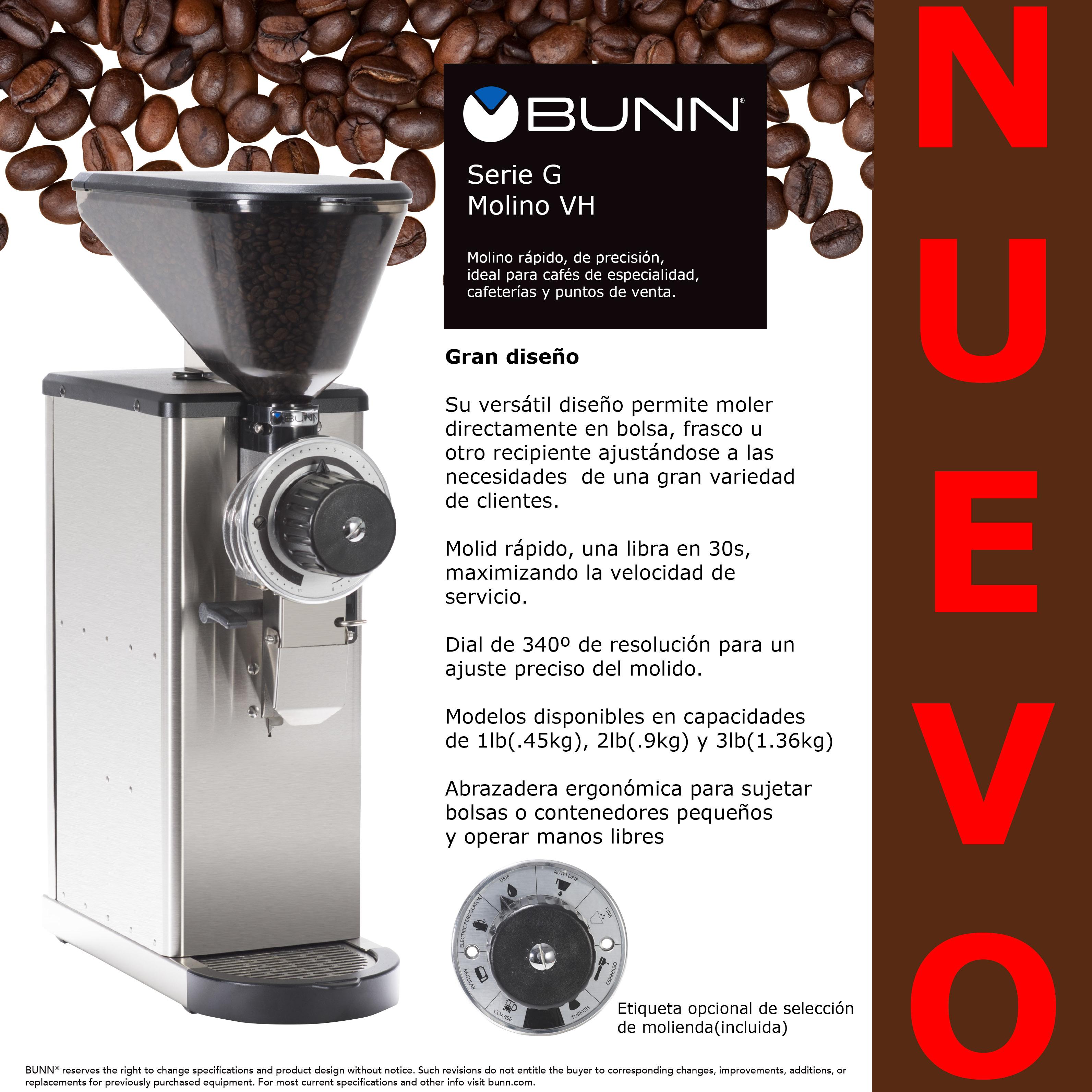 Molino Bunn VH Serie G