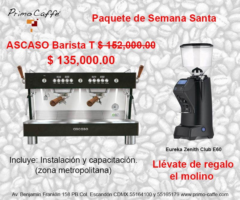 Cafetera ascaso barista T molino Zenith E60